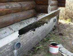 Гидроизоляция фундамента бани